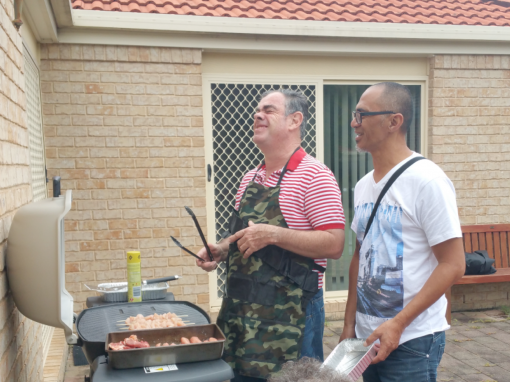 independent living, cooking a bbq at home