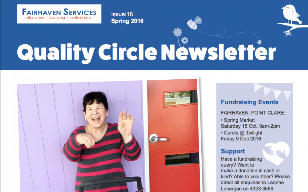 Quality Circle Newsletter – October 2016