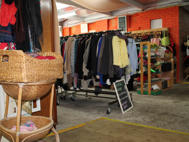 Welcome to Vintage Fair upcycle space, Fairhaven Services.