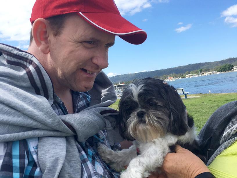 Ron meets a furry friend at Davistown