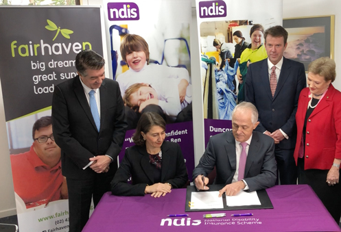 PM visits Fairhaven to launch NDIS funding deal